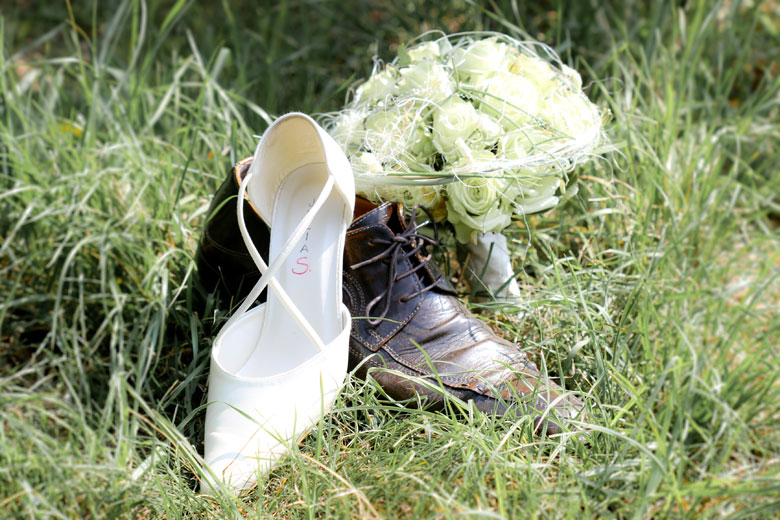 Schuhe mit Strauss
